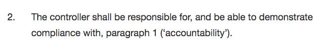 Accountability Priciple